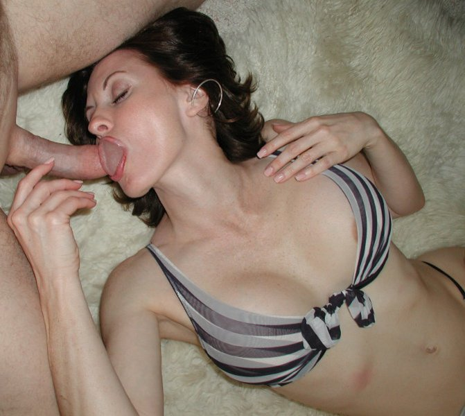 Mature Wife Sucking Cock of Another Man