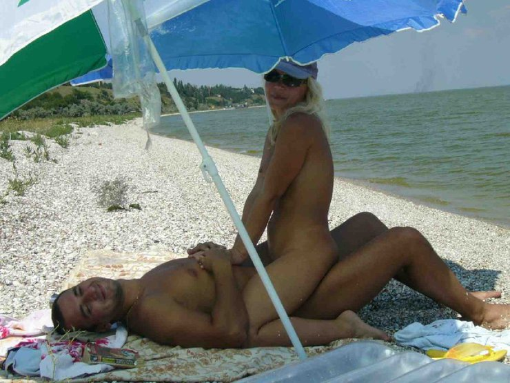 Mature Couple Making Sex at the Beach