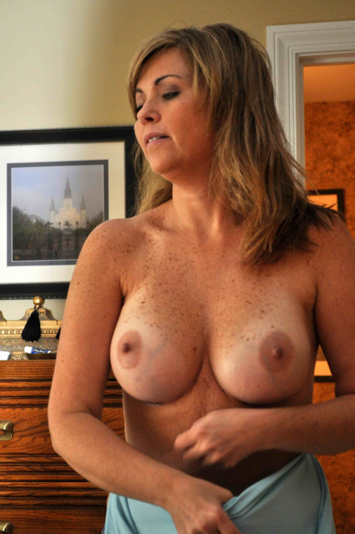 Beautiful Mature Wife Flashing Her Big Tits