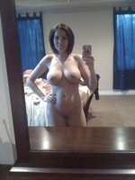Selfshot with Amazing Rack of Tits on Mature Lady