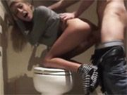 Curvy Blonde Hottie Fucked Hard in the Restroom