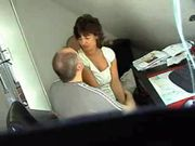 Sex at the Office with Older Woman Secretary