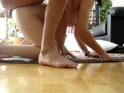 Sex on the floor with hot mom