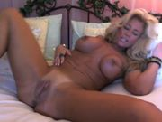 Stunning busty mature blonde cougar masturbating on webcam